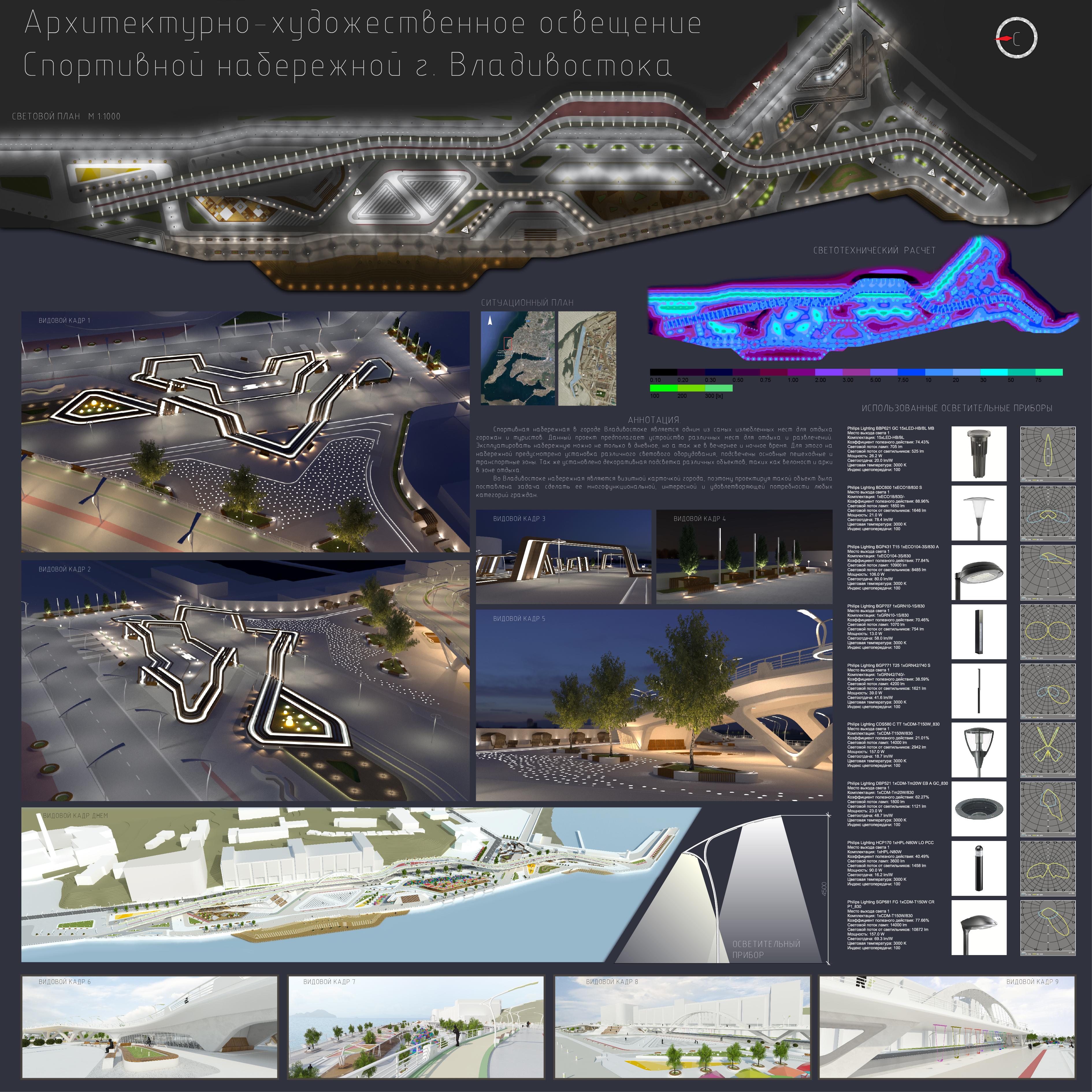 Работы студентов Номинация Лучший студенческий дизайн наружного освещения